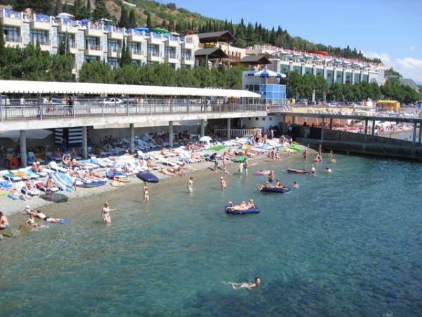Пляж отеля «Сказка»