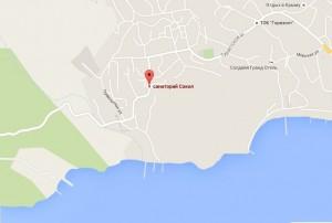 Местоположение санатория «Сокол»
