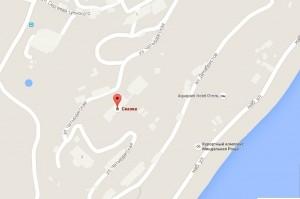 Месторасположение отеля «Сказка» на карте