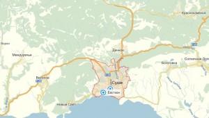 Местоположение отеля «Бастион»