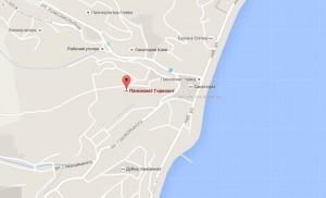 Местоположение пансионата Горизонт на карте