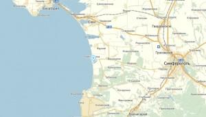 Местоположение Пансионата Южный на карте