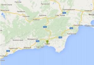 Местоположение пансионата «Звездный» на карте