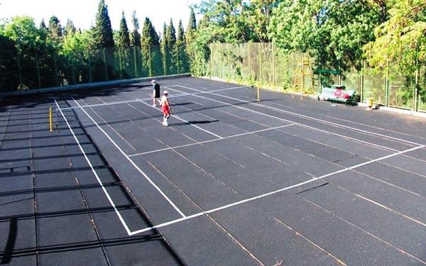 Теннисный корт санатория «Форос»