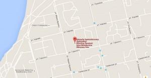 Местоположение санатория «Искра» на карте