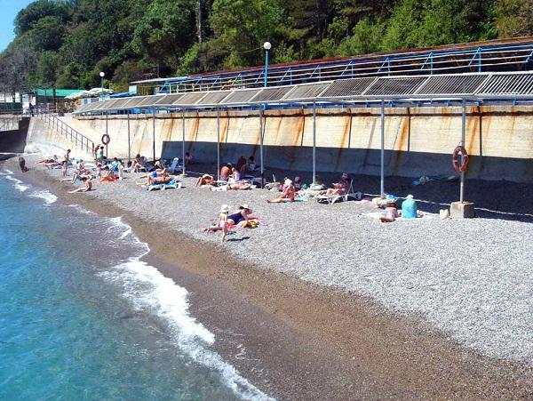 Пляж санатория «Ливадия»