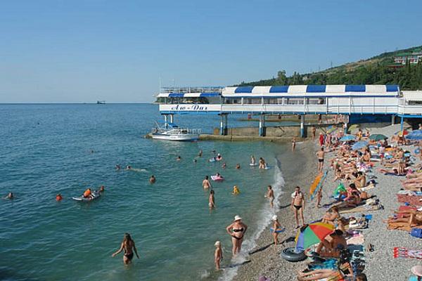 Пляж, прилегающий к территории «Жемчужина Крыма»