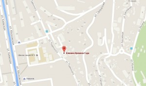 Местоположение центра на карте