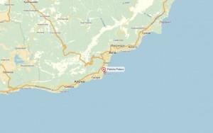 Местоположение спа-отеля на карте