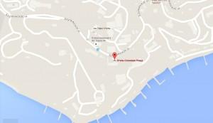 Местоположение отеля на карте
