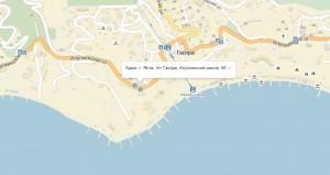 Местонахождение отеля на карте