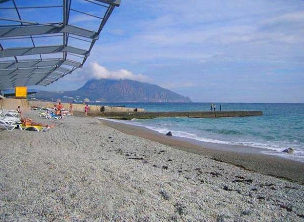 Пляж, прилегающий к территории санатория «Ай-Даниль»