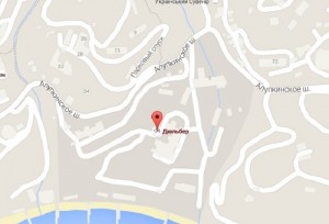 "Местоположение санатория ""Дюльбер"" на карте"
