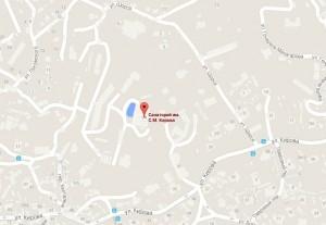 Местоположение санатория на карте