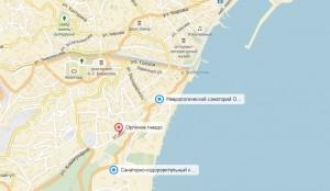 Местоположение здравницы на карте