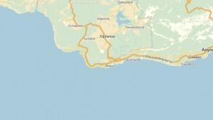 Расположение Санатория «Форос» на карте
