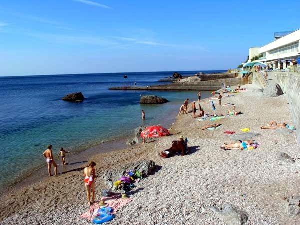 """Пляж, прилегающий к территории санатория """"Форос"""""""