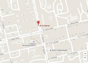Местоположение санатория Фемида на карте