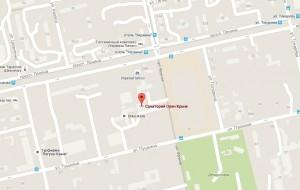 Местоположение санатория «Орен-Крым» на карте