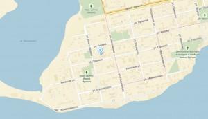 Местоположение санатория Первомайский на карте
