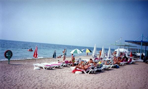 Пляж санатория Первомайский