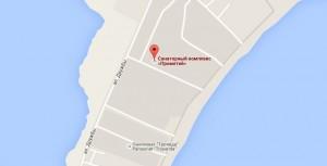 Местоположение санатория Прометей на карте