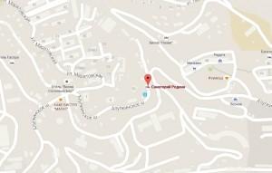 Месторасположение санатория на карте