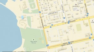 Местоположение санатория Родина на карте
