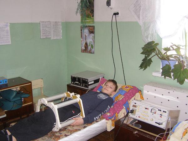 Одна из оздоровительных процедур в санатории Родина