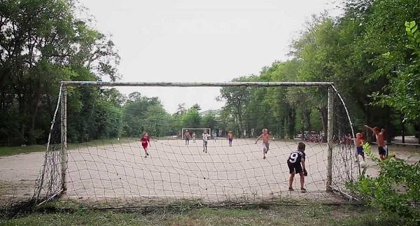 Футбольное поле лагеря