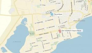 Местоположение дома отдыха на карте