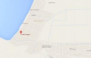 Местоположение базы отдыха «Лагуна» на карте