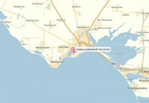 Местоположение пансионата Озеро сновидений на к5арте
