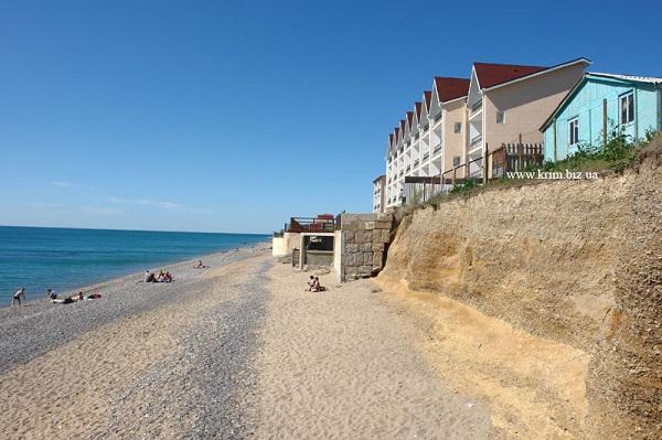 Пляж, прилегающий к территории пансионата «Рассвет»