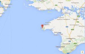 Местоположение пансионата на карте