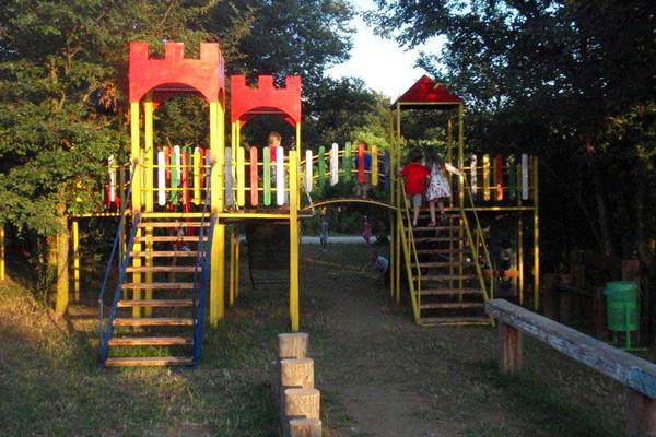 Детская игровая площадка на территории пансионата