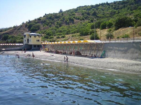 Пляж санатория Славутич