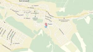 Местоположение турбазы «Привал» на карте