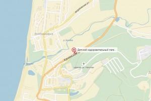 Местоположение лагеря на карте
