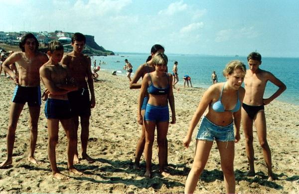 Пляж, принадлежащий детскому лагерю Нахимовец
