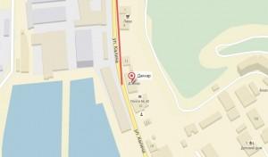 Местоположение гостиницы на карте