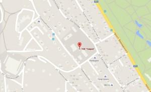 Местоположение пансионата «Таврия» на карте