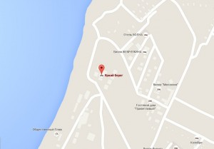 Местоположение пансионата «Яркий берег» на карте
