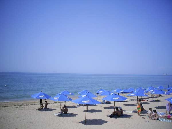 Пляж, прилегающий к территории пансионата «Яркий берег»