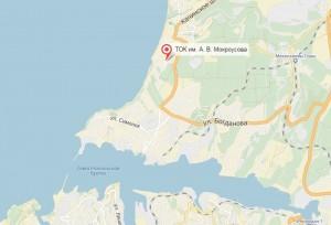 Местоположение базы отдыха на карте